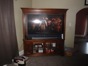 Beautiful Solid Maple Entertainment Center for Large Flatscreen TV's