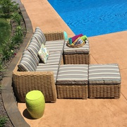 Sale on Patio Sofa with Ottomans